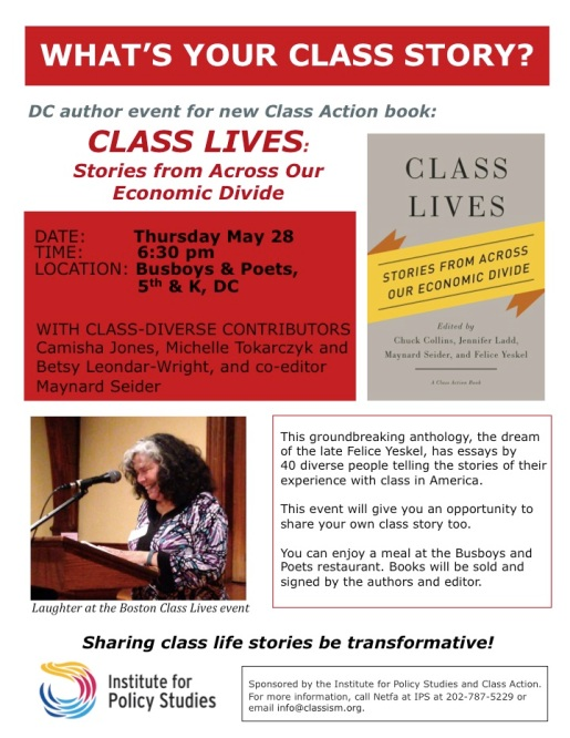 DC Class Lives event flyer copy